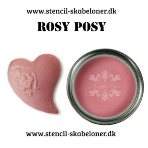 Rosy Posy er en rig lyserød kalkmaling som igen bevæger sig inden for Bohé farvespektret - virkelig en fræk farve med karakter