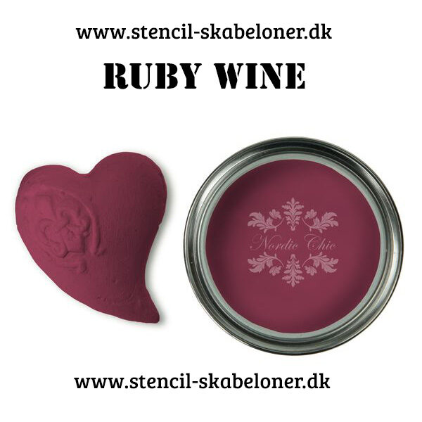 Ruby wine - igen en fed kalkmaling i boheme stielen fra Nordic Chic - virkelig en kalkmaling med karakter
