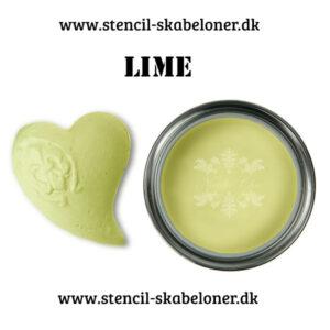 lime farvet kalkmaling fra Nordic Chik - super flot og frisk farve.