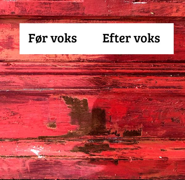 Voks på malede møbler malet med kalkmaling